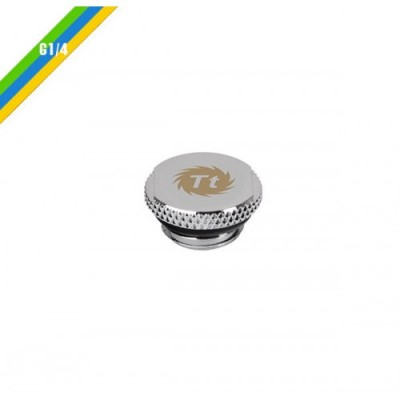 Thermaltake Pacific G1/4 Stop Plug w/ O-Ring - Chrome