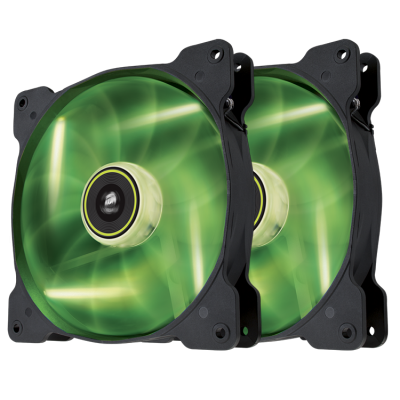 "Green LED, Corsair ""Air Series"" SP140 LED Green High Static Pressure 140mm Fan"