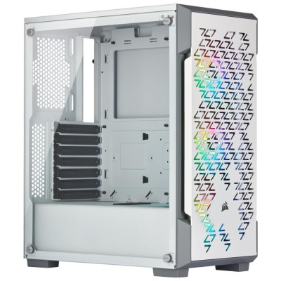 Corsair iCue 220T RGB White Smart Mid Tower Case White