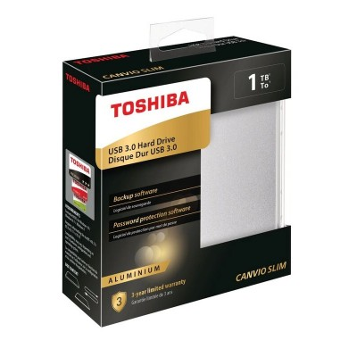 Toshiba HDTD310AS3DA 1TB Canvio Slim USB 3.0 External HDD