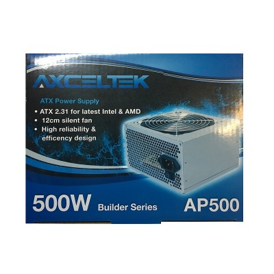 Axceltek AP500B 500W ATX power supply (12cm fan, 4 x SATA)